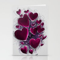 Hearts break. Stationery Cards