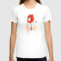 Recuerdos Womens Fitted Tee White SMALL