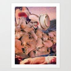 Walrus Trouble II Art Print