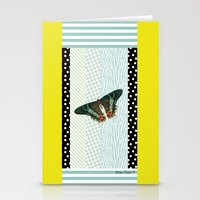 Mint butterfly Stationery Cards