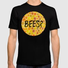 BEES? Black SMALL Mens Fitted Tee