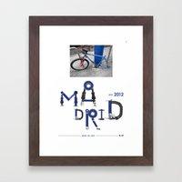Bike to Life - Madrid Framed Art Print