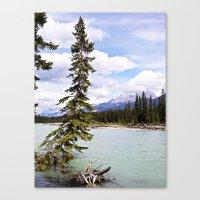 Alberta River Landscape Canvas Print