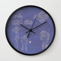 Transformer Blueprints Wall Clock