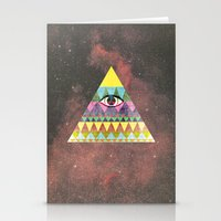 Pyramid in Space. Stationery Cards