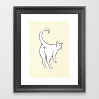 cat butt love Framed Art Print