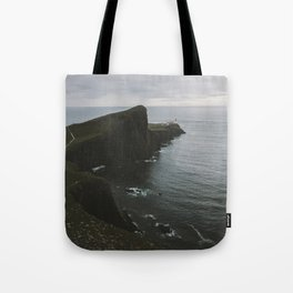Tote Bag - Neist Point Lighthouse at the Atlantic Ocean - Landscape Photography - regnumsaturni