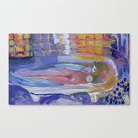 Study of Pierre Bonnard's Nude in the bath Canvas Print