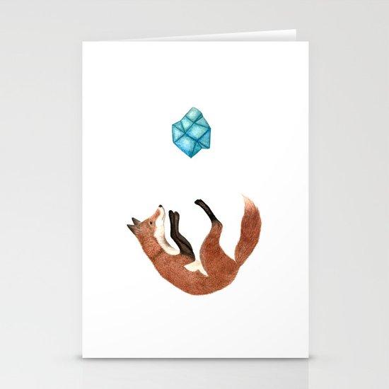 Blue Fox Stationery Card