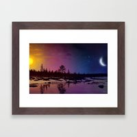 Day And Night - Painting Framed Art Print