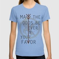 The Hunger Games Poster … Womens Fitted Tee Athletic Blue SMALL