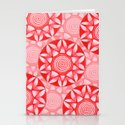 Red Mandala Stationery Cards