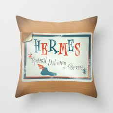 Hermes Special Delivery Service Throw Pillow