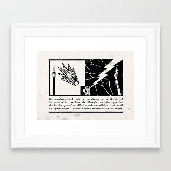 our cubehouse still rocks Framed Art Print