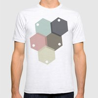 Farbbienenstock Mens Fitted Tee Ash Grey SMALL