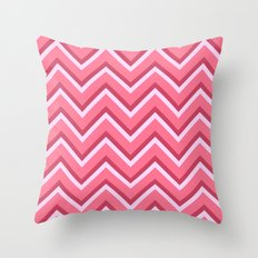 Pink Zig Zag Pattern Throw Pillow