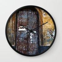 Old Sicilian Door Of Cat… Wall Clock