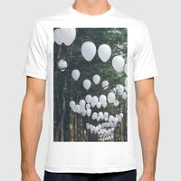 Romantic Forest Mens Fitted Tee White SMALL