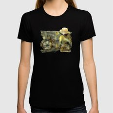 My Scooter Womens Fitted Tee Black SMALL