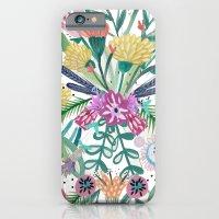 Flower burst, Illustration, print, art, pattern, floral, flowers, colour, painting, design, iPhone 6 Slim Case