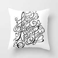 Live for Your Hopes Throw Pillow