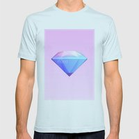 Crystallographic defects in diamond Mens Fitted Tee Light Blue SMALL