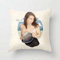 Miss North Carolina Throw Pillow