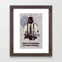Dark Business. Framed Art Print
