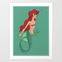 The Miniature Mermaid Art Print