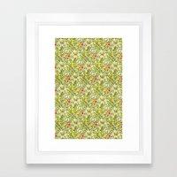 Golden Lily Design Framed Art Print