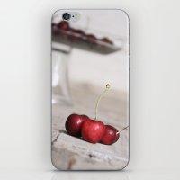 Three Lucky Cherries iPhone & iPod Skin