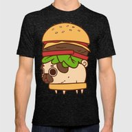 Puglie Burger Mens Fitted Tee Tri-Black SMALL
