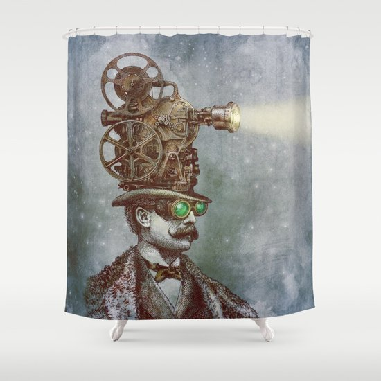 The Projectionist (colour option) Shower Curtain