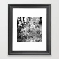 Summer space, smelting selves, simmer shimmers. 21, grayscale version Framed Art Print