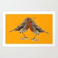 Cute Birds Art Print