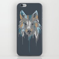 Painted Wolf iPhone & iPod Skin