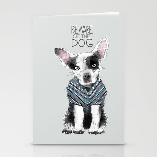 Beware of the dog Stationery Card