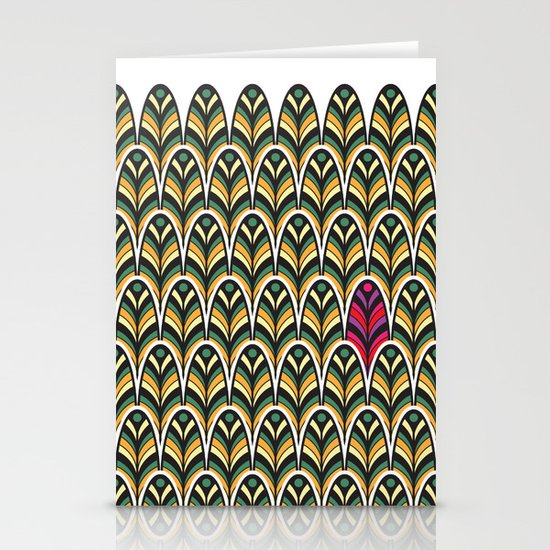 Rubine Feather Stationery Card