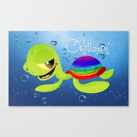 Chillaxin' Turtle Canvas Print