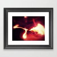 Fire Of Dragon Framed Art Print