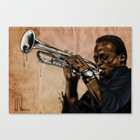 Miles, jazz will never be the same Canvas Print