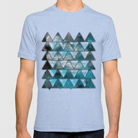 TriangleTracts Mens Fitted Tee Tri-Blue SMALL