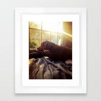 Sitting by the Evening Sun Framed Art Print
