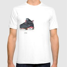 Pixel Jordan Mens Fitted Tee SMALL White