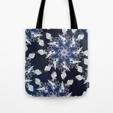 Damask blue Tote Bag