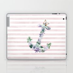 FLORAL ANCHOR IN PINK Laptop & iPad Skin