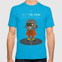 Meet The Atom Mens Fitted Tee Teal SMALL
