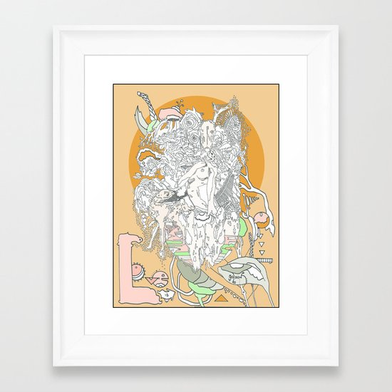 Love is Golden Framed Art Print