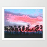 Coachella Sunset Art Print