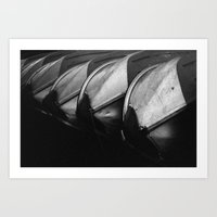 Row Boats 3 Art Print